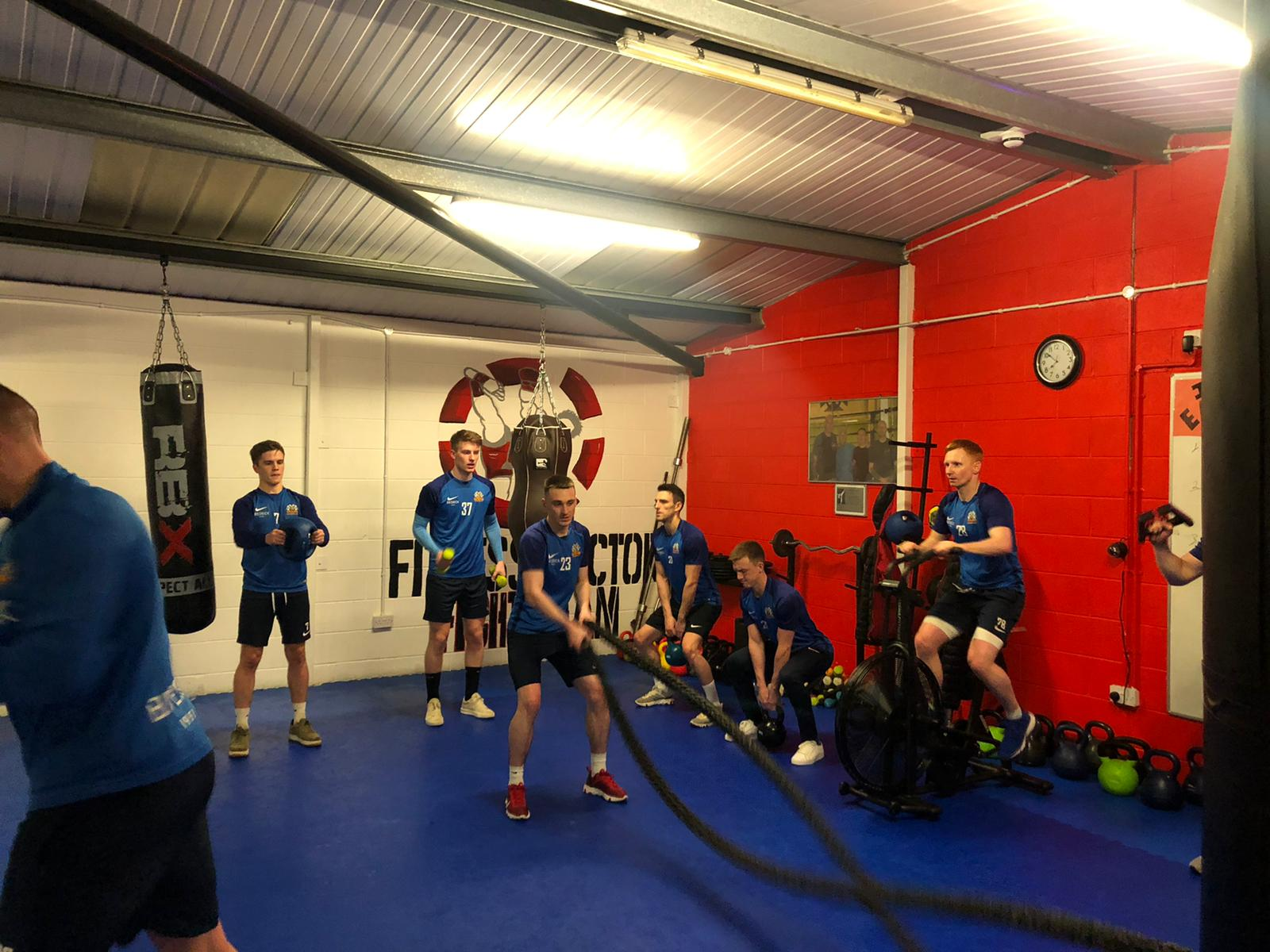 Fitness Factory Gives Squad a Tough Workout