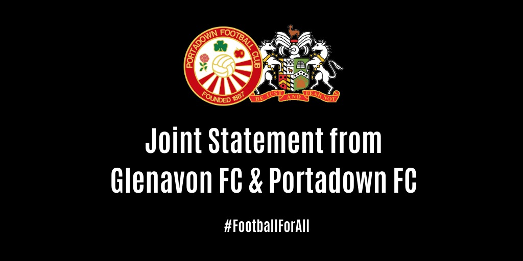 Joint statement from Glenavon FC and Portadown FC